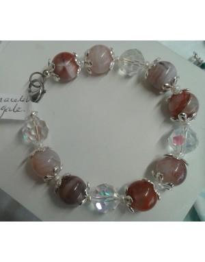 collier perles de cristal de roche
